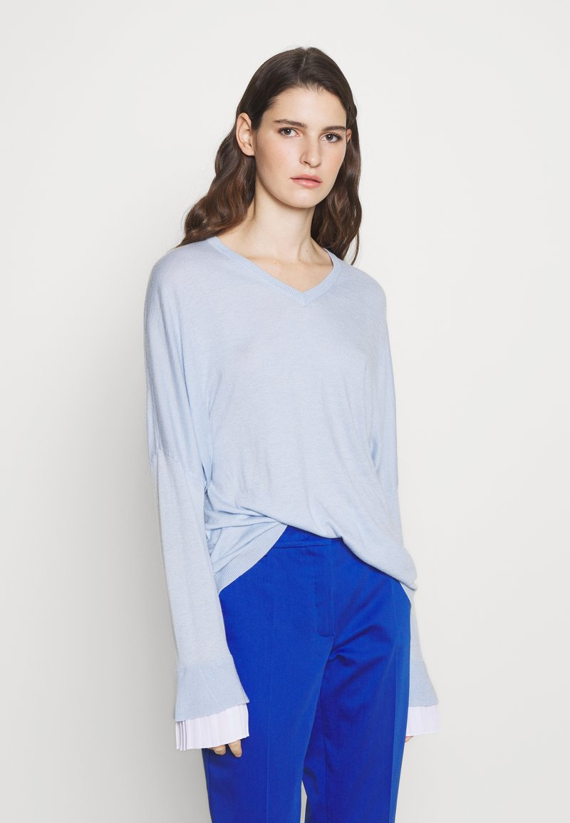 Steffen Schraut - EXCLUSIVE BLOUSE  - Jumper - soft blue