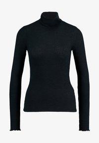 Abercrombie & Fitch - SLIM TURTLENECK - Maglietta a manica lunga - black - 3