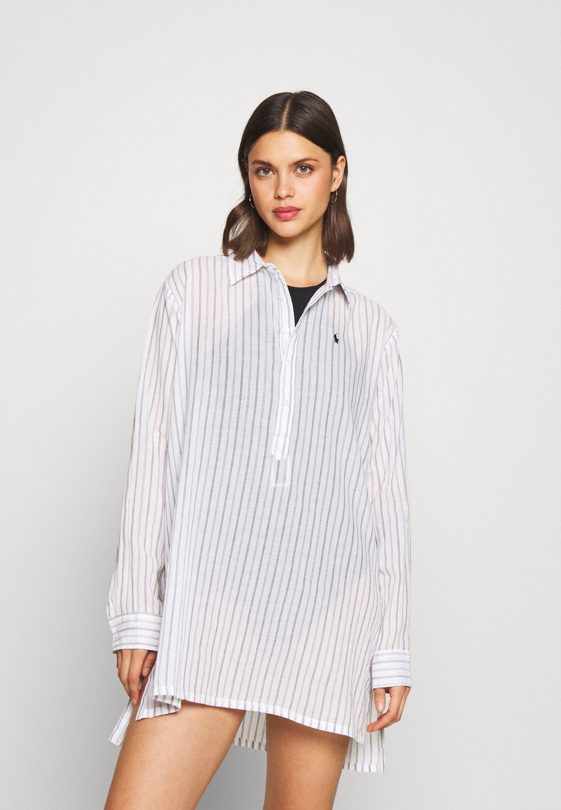 Donna STRIPE SHIRT DRESS - Accessorio da spiaggia