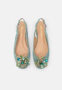 Alma en Pena - Ankle strap ballet pumps - mint - 5