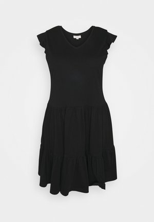 CARAPRIL LIFE FRILL DRESS - Vapaa-ajan mekko - black