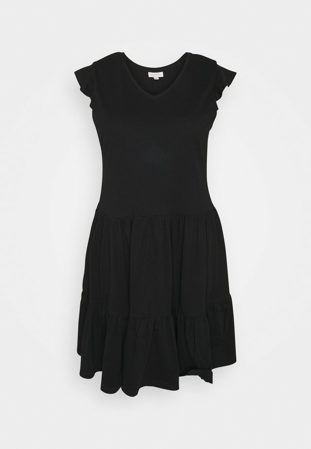 CARAPRIL LIFE FRILL DRESS - Korte jurk - black