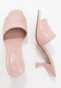Topshop - NUTMEG FLARE HEEL - Mules à talons - pink - 3