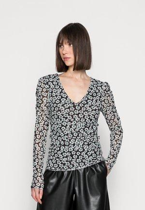 MARIE - Long sleeved top - black/emerald
