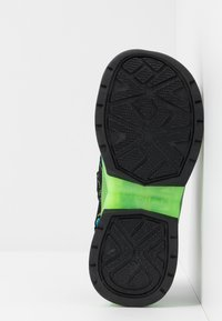 Skechers - FLEX-FLOW - Chodecké sandály - black/blue/lime - 4