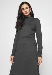 Vero Moda - VMSHARM HIGHNECK DRESS VIP - Jumper dress - dark grey melange - 4