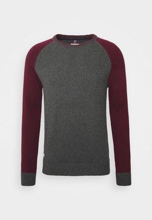 Jersey de punto - grey/wine