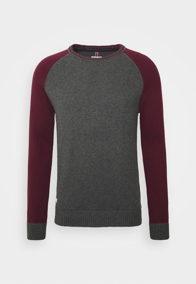 Jumper - grey/wine