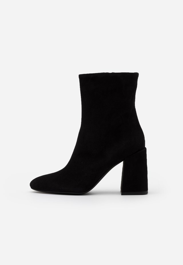 BLOCKTRONCHETTO - High heeled ankle boots - nero