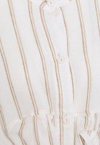 Dondup - STRIPED LINEN DRESS - Shirt dress - beige - 2