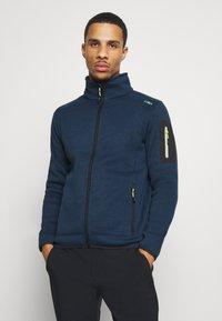 CMP - Fleece jacket - blue ink/yellow fluo - 0