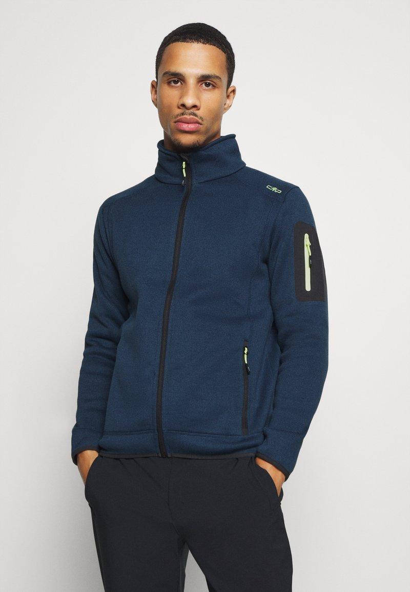 CMP - Fleece jacket - blue ink/yellow fluo