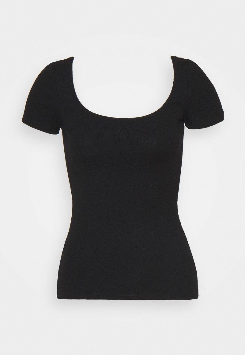 Anna Field - Jednoduché triko - black