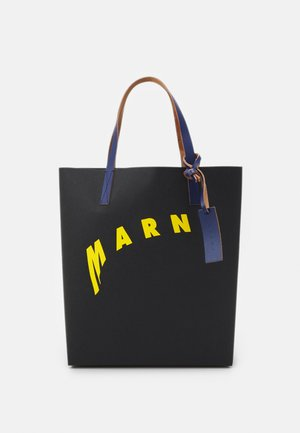 SHOPPING BAG - Shopping bag - black/yellow/bluette