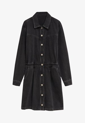 LUNA - Denim dress - black denim