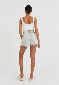 PULL&BEAR - Denim shorts - grey denim - 2