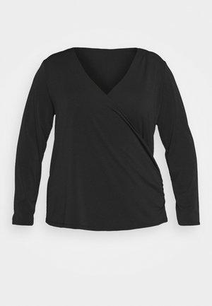 VINAYELI WRAP - Long sleeved top - black
