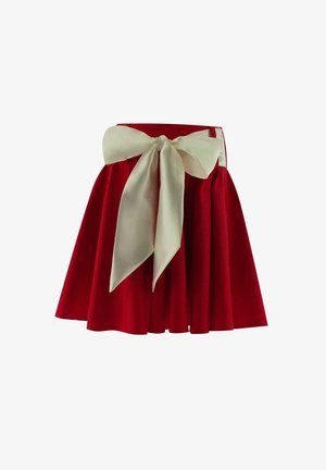 A-line skirt - red, white
