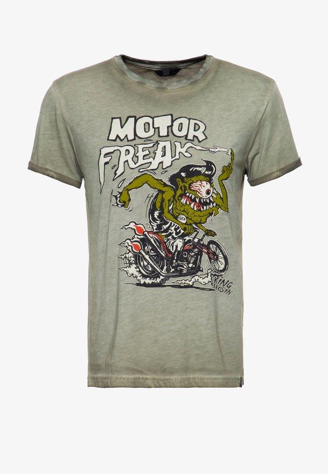 MOTOR FREAK - T-shirt imprimé - olivgrün