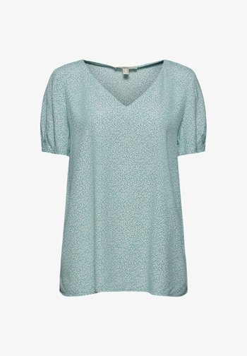 Print T-shirt - light aqua green