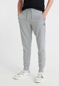 Superdry - COLLECTIVE - Tracksuit bottoms - grey marl - 0