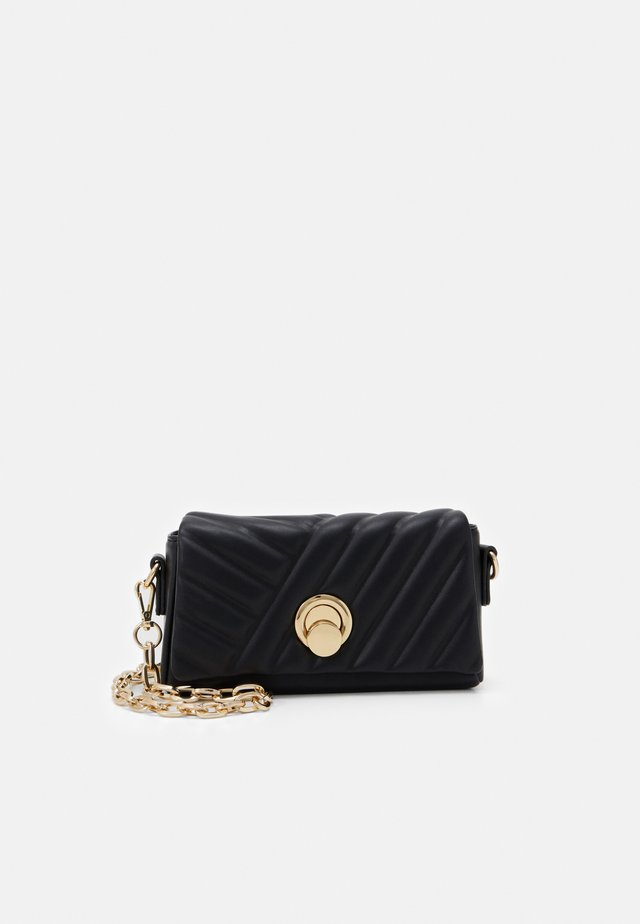 TIANA EMBOSSED CROSSBODY - Skulderveske - black
