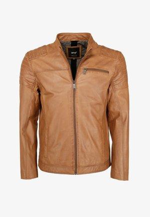 ROCHA - Leather jacket - cognac