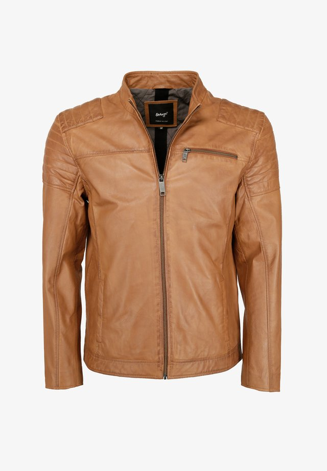 ROCHA - Leather jacket - cognac
