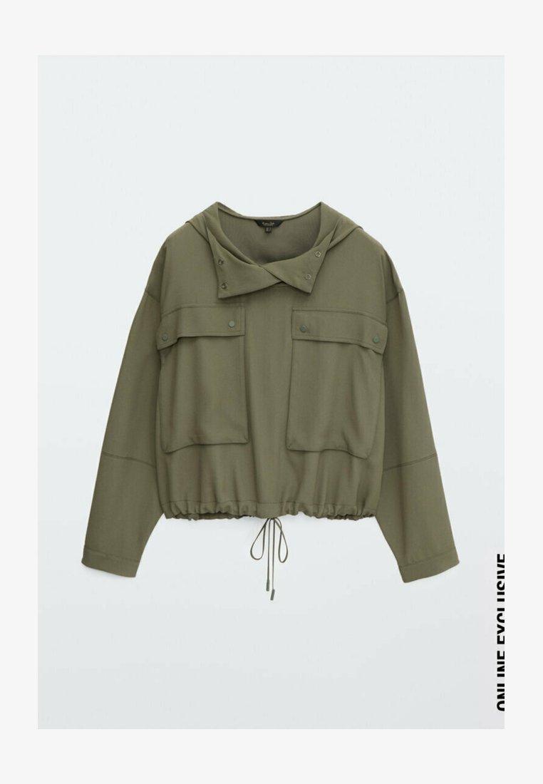 Massimo Dutti - MIT TASCHEN UND KAPUZE - Summer jacket - khaki