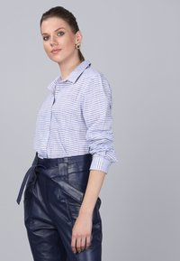 Basics and More - Button-down blouse - blue - 4