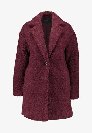 ONLALMA TEDDY COAT - Kort kåpe / frakk - windsor wine
