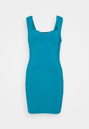SWEETHEART NECK BODYCON DRESS - Jumper dress - blue