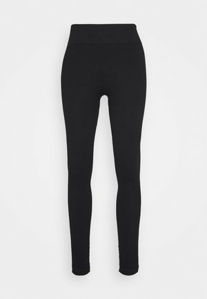 SEAMLESS HIGH WAIST - Medias - black