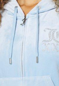 Juicy Couture - NUMERAL HOODIE - Zip-up sweatshirt - powder blue - 7