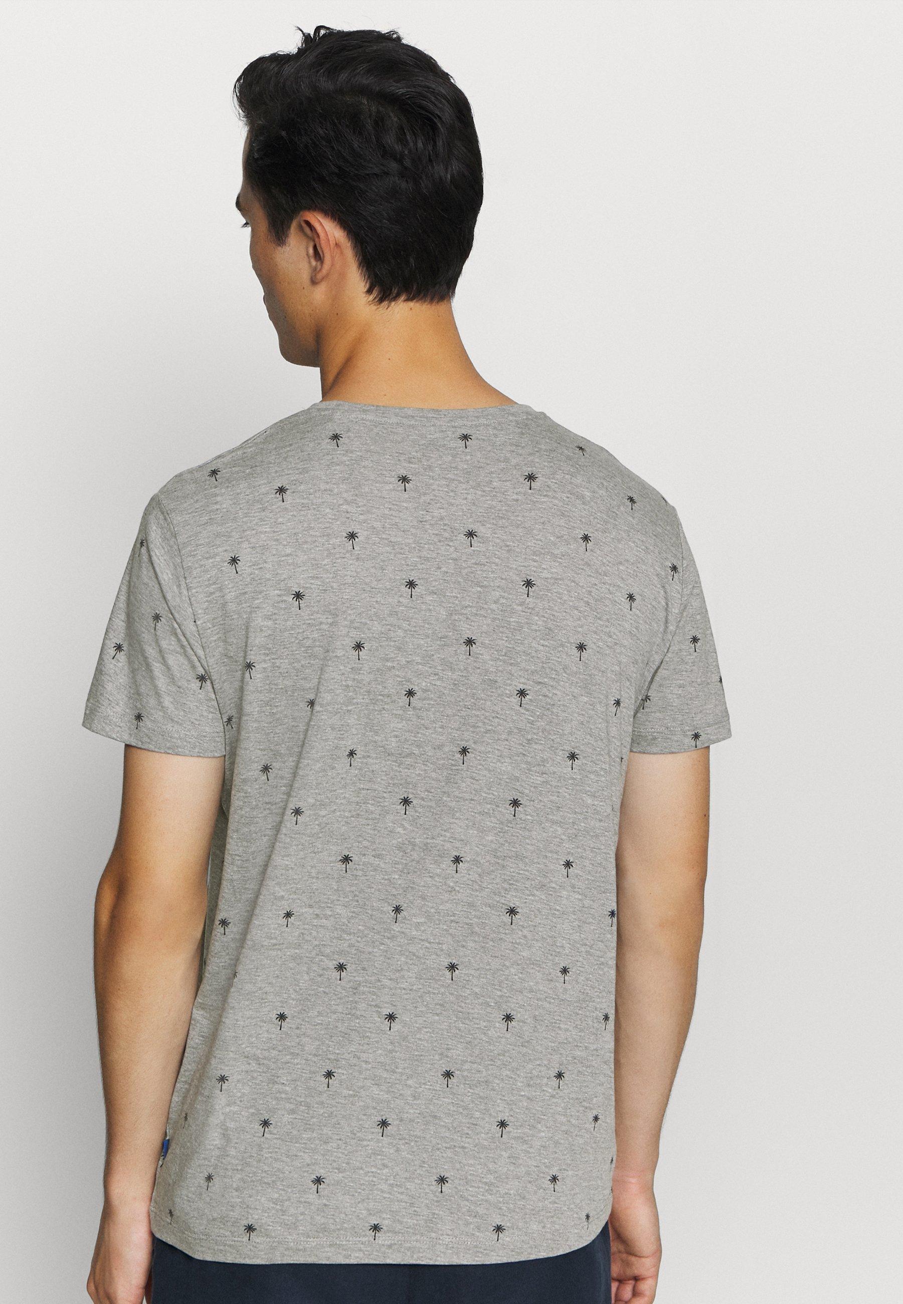 edc by Esprit PALM  - Print T-shirt - medium grey 8pl2x