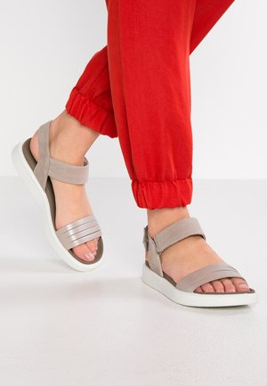 ECCO FLOWT W - Sandals - moon rock silver/warm grey metallic