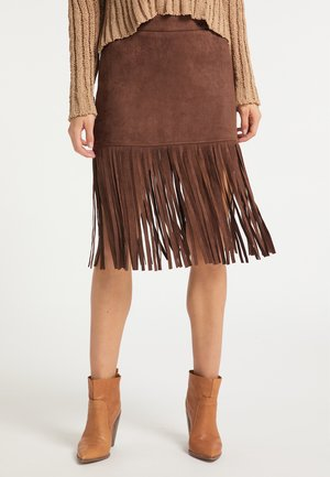 Pencil skirt - dunkelbraun