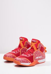 AND1 - HAVOK - Basketball shoes - red/white - 2