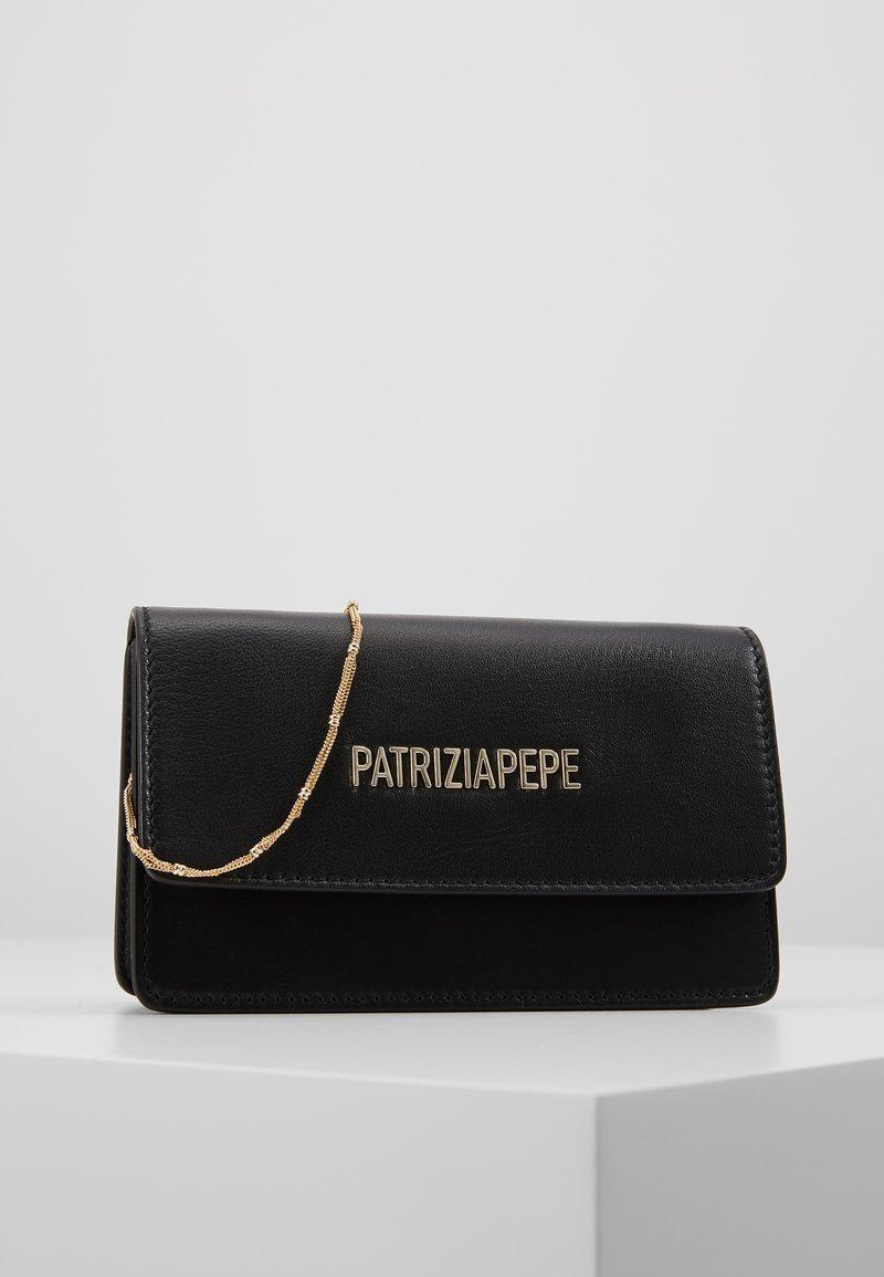 Patrizia Pepe - MINI BAG PIPING LOGO - Sac bandoulière - nero