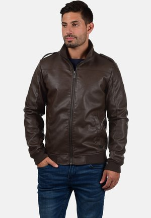 CONWAY - Faux leather jacket - dark brown