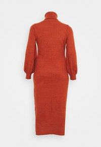 Glamorous Curve - SLOUCHY JUMPER MIDI DRESS WITH PUFF LONG SLEEVES - Jumper dress - rust - 1