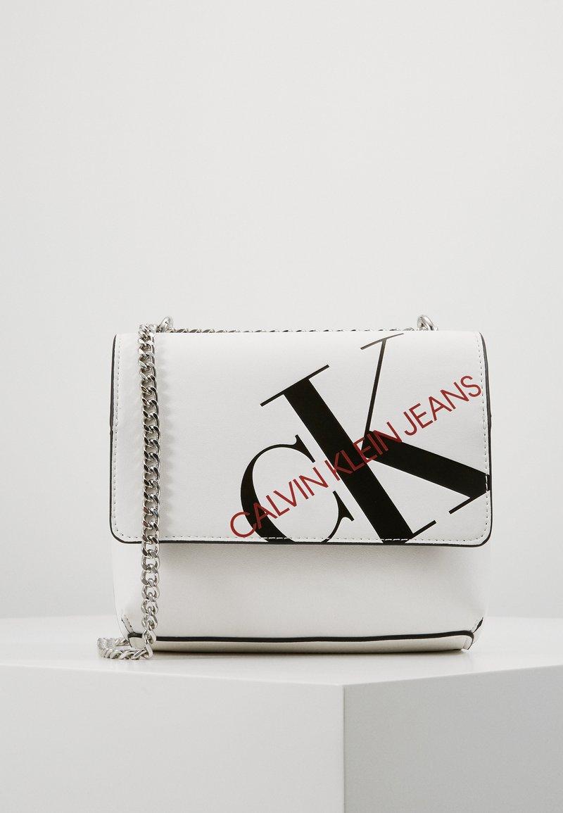 Calvin Klein Jeans - SQUARE FLAP XBODY - Across body bag - white