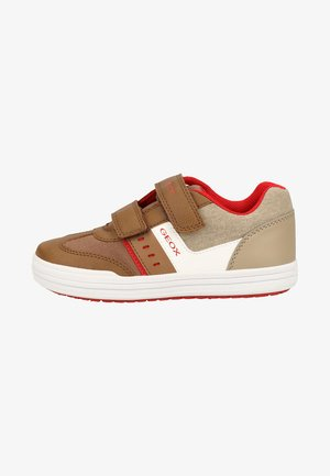 Baskets basses - taupe/red