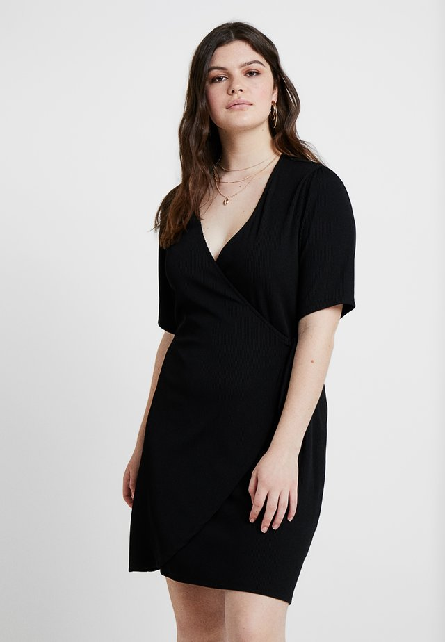 DANNY WRAP DRESS - Vestido ligero - black