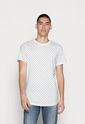 JJROSS TEE CREW NECK - T-shirt print - white