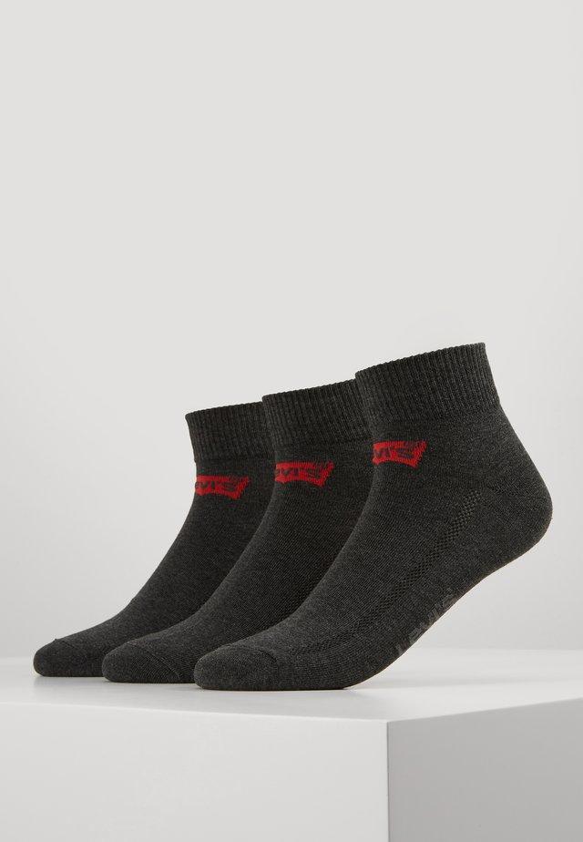 MID CUT BATWING LOGO 3 PACK - Ponožky - anthracite melange/black