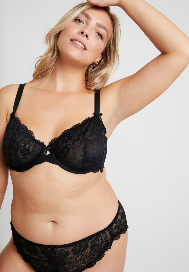 UNLINED BRA - Bügel BH - black