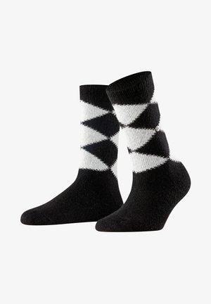 COSY ARGYLE - Socks - black