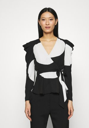 WRAP  - Blouse - black/white