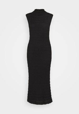 SLEEVELESS LONGDRESS - Vestido de punto - black